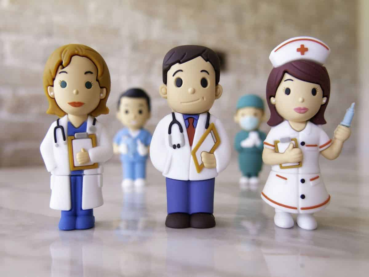 USB-stick dokter en verpleegster