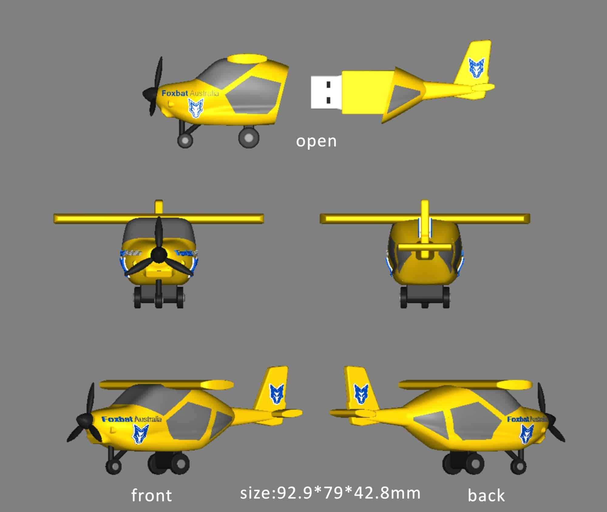 USB-stick Vliegtuig 3D