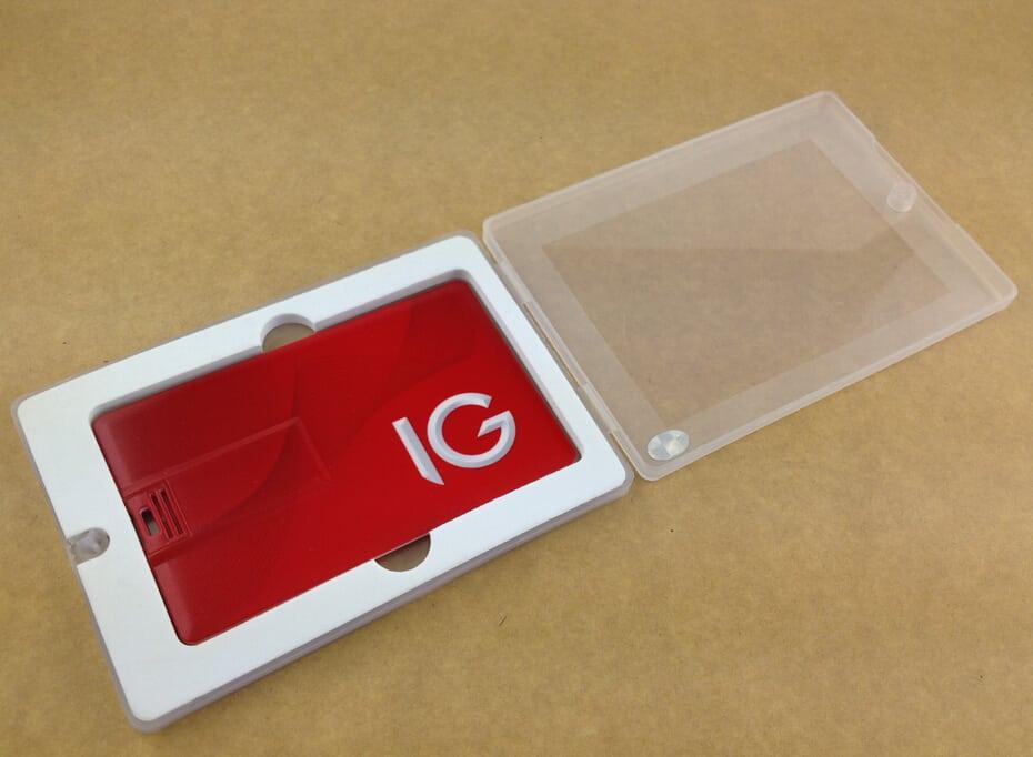 USB-stick creditcard - cadeauverpakking