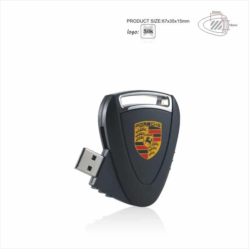 USB-stick Porsche - Key - Sleutelhanger