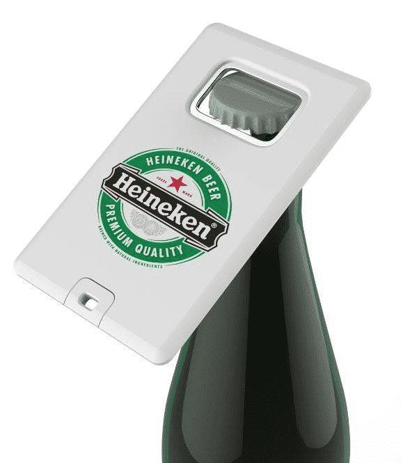 USB-stick met flesopener en logo bedrukt