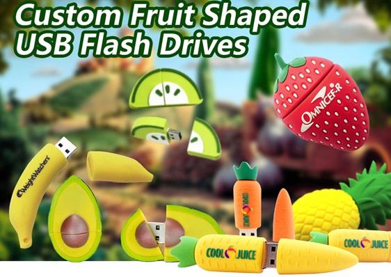 USB stick fruit met logo bedrukt