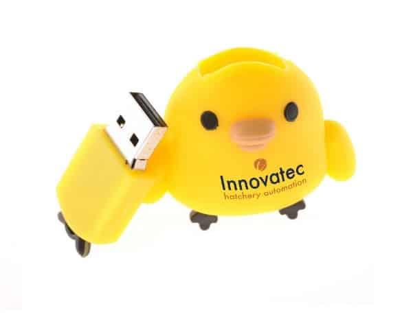 USB stick kuiken met logo bedrukt