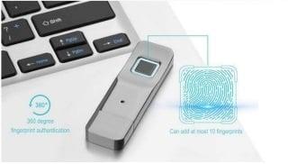 USB-stick vinger afdruk ontgrendeling USB stick beveiligd