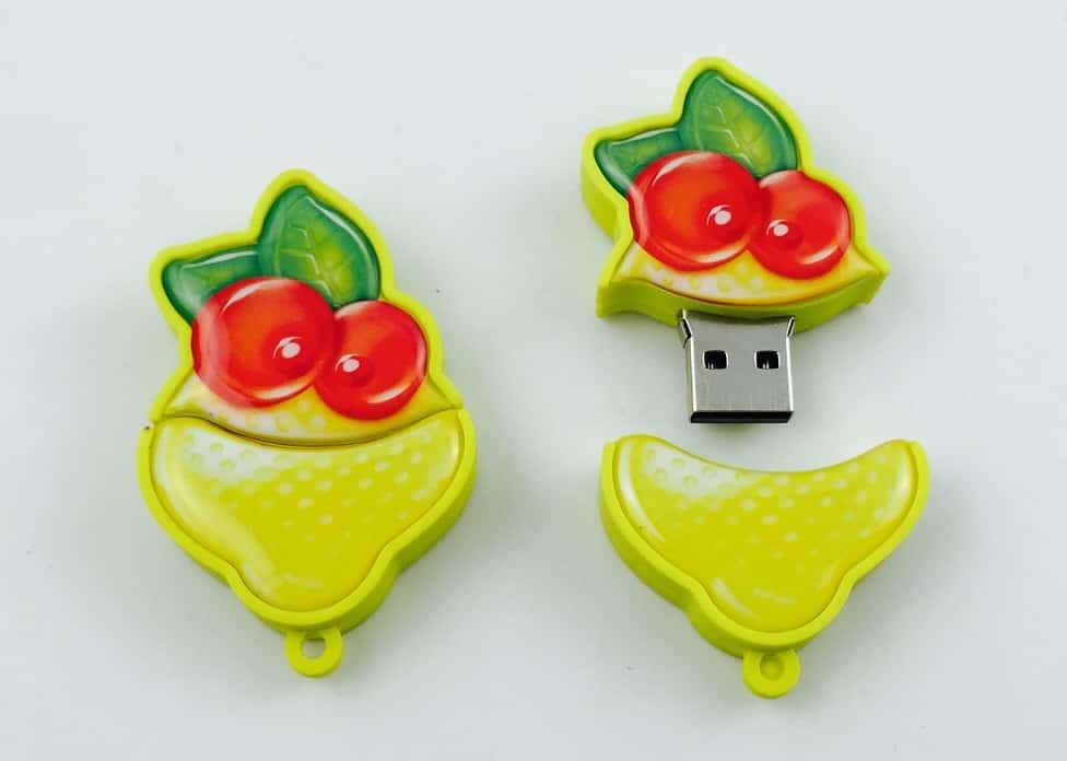 Smile gummi USB stick met logo snoep